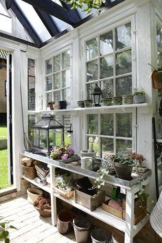 Potting Shed Ideas ~ Like the White Paint
