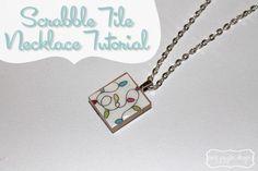 Scrabble Tile Necklace Tutorial