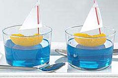tangerine/jello sailboats pool parties, jello shots, nautical baby, nautical party, nautical theme, sailboat, kid parties, themed parties, baby showers