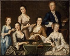 The Greenwood-Lee Family, c. 1747, by John Greenwood ( artist self portrait with members of his family) | Museum of Fine Arts, Boston
