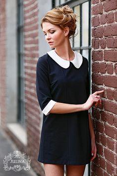 """A'la Twiggy dress   Купить Платье """"Твигги"""" - чёрно-белый, маленькое черное платье, твигги, мини, черный, классика"""