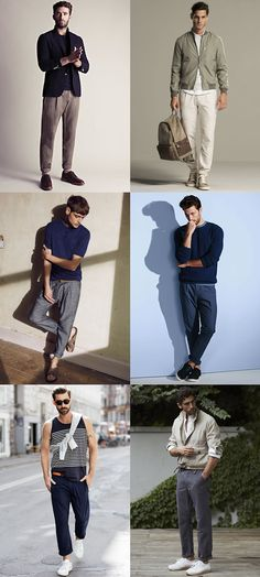 Men's Relaxed Leg Trousers and Chinos - Men's Fashion & Style Outfit Inspiration Lookbook