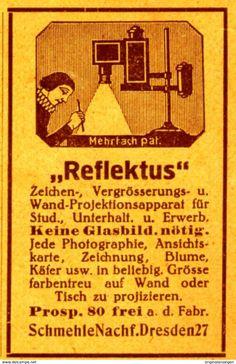 Original-Werbung/ Anzeige 1923 - REFLEKTUS PROJEKTION / SCHMEHLE NACHF. - DRESDEN -  Ca. 40 X 60 Mm - Werbung