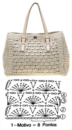 Dolce E Gabbana, Diy And Crafts, Monogram, Michael Kors, Tote Bag, Knitting, Pattern, Bags, Knits