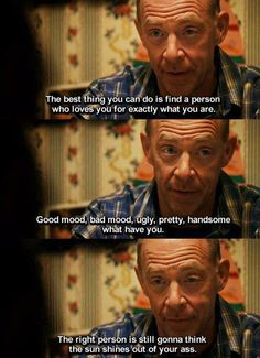 Juno's daddy, so wise. Daddy's are the best :)