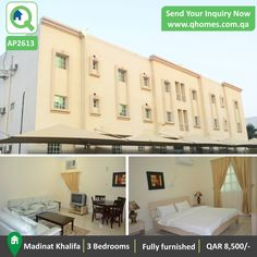 Apartment for Rent in Qatar: Fully Furnished 3 Bedrooms Apartment in Madinat Khalifa at QAR 8,500/-