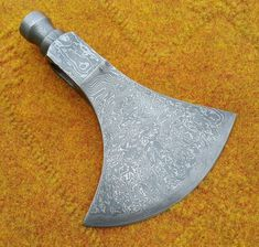 KNIVES EXPORTER Forest Hunter Felling Bearded Damascus Steel Blank Axe Head #KNIVESEXPORTER