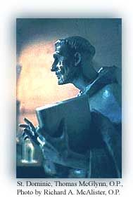 Statue of St. Dominic by Dominican Sculptor Thomas McGlynn, OP