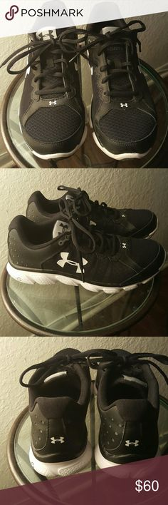 Men Sneakers Bkack and white Under Armour sneakers/ brand new worn once. Under Armour Shoes Sneakers