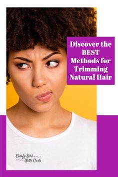 Discover the BEST methods for trimming Natural Hair. The #1 way to obtain long and healthy type 4 Hair is to keep your ends trimmed to prevent split ends and further damage. Learn how to, how often, when to, and the best way to! #NaturalHair #NaturalHairCare #NaturalHairTips