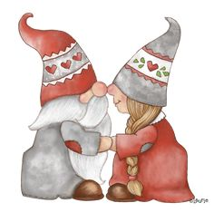 Valentine Crafts, Holiday Crafts, Valentines, Christmas Clipart, Christmas Pictures, Christmas Gnome, Christmas Art, Illustration Noel, Elves And Fairies
