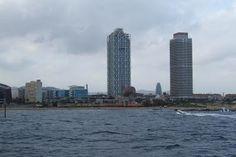 Barcelona from the Mediterranean Sea