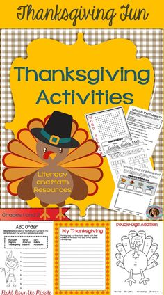 Thanksgiving Activities to engage your students during the month of November. Keep your students wanting to learn with this resource! Math and ELA pages included.