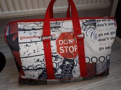 "Sac Boston ""Don't Stop"" cousu par Chats Oons - patron sac weekend Sacôtin"