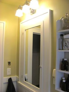 Bathroom Lights Over Medicine Cabinets bathroom medicine cabinets - mirrored picture frame | lighting and