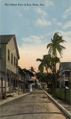 The Oldest Part of Key West. Postcard published by Frank Johnson, Key West. Vintage Florida, Old Florida, Florida Usa, Florida Keys, Fl Keys, Florida Sunshine, Sunshine State, Big Pine Key, Key West Style