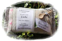 Hochzeit+Geld+-+ShabbyChic+Kissen+-+Lebensrezept+von+Antjes+Design+auf+DaWanda.com