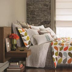 Orla Kiely bed linens. Love.