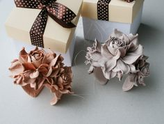 Current Obsession | Leather Flowers | Brooches + Accessories