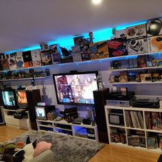 5 Most Recommended Video Game Room Ideas -. 5 Most Recommended Video Game Room Ideas – Video Games Deco Gamer, Geek Room, Gaming Room Setup, Gaming Rooms, Video Game Rooms, Game Room Design, Game Room Decor, Entertainment Room, My New Room