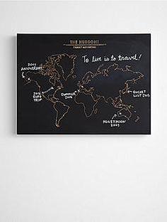 personalized chalkboard map