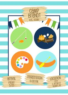 Printable Birthday Party Invitation - Summer Camp
