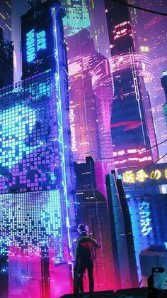 Wallpaper City, Look Wallpaper, Anime Scenery Wallpaper, Cool Wallpapers City, Mode Cyberpunk, Cyberpunk Aesthetic, Neon Aesthetic, Cyberpunk Games, 1366x768 Wallpaper Hd