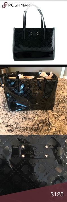 Kate spade Quinn beale street black patent NWT Never used. NWT. Still stuff with paper kate spade Bags Totes