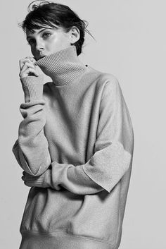 Black and White, Turtleneck @thecoveteur