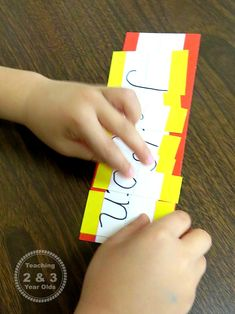 Preschool Literacy: Learning Letters in Our Names - Teaching 2 and 3 year olds 3 Year Old Preschool, Preschool Literacy, Early Literacy, Literacy Activities, Toddler Activities, Preschool Ideas, Name Puzzle, 3 Year Olds, Creative Curriculum