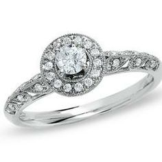 1/3 CT. T.W. Diamond Circle...