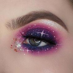 Galaxy Augen Make-Up mit der NYX Ultimate Brights Palette