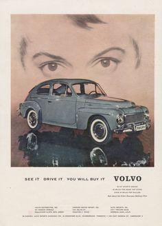 Rare 1959 Volvo Ad Grey Automobile 1950s Classic by AdVintageCom