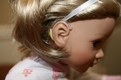 I love the idea of hearing aids on dolls, bears, etc. for hearing impaired children.