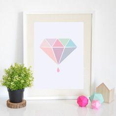 Affiche géométrique diamant édition limitée