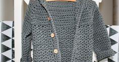 Een persoonlijk blog met haakpatronen en ideeen om te haken. Baby Knitting Patterns, Baby Patterns, Crochet Patterns, Crochet For Kids, Free Crochet, Baby Vest, Blog, Diy Crafts, Sweaters