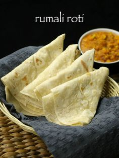 roomali roti, rumali roti , easy roti recipe with step by step photo& recipe. roti& are indian bread which is served with curry for lunch and dinner Curry Recipes, Snack Recipes, Cooking Recipes, Roomali Roti Recipe, Roti Recipe Indian, Recipe Recipe, Kitchen Gourmet, Chefs, Indian Bread Recipes