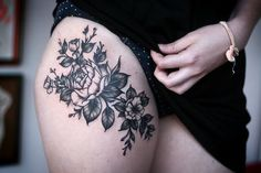 thigh tattoo | Tumblr