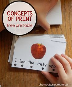 This free voice to print pack will help your preschooler master important concepts of print.