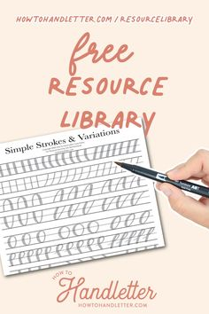 Here, you will find printable resources for your handlettering and creative journaling ventures! Created by Suzy Grace of How to Handletter #handletteringtips #handlettering #printables #handletteringworksheets #freehandletteringworksheets Calligraphy For Beginners, Calligraphy Tutorial, Lettering Tutorial, Hand Lettering Quotes, Lettering Styles, Brush Lettering, Printable Letters, Printable Worksheets, Printables