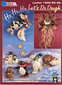 Christmas Craft Patterns Ornaments Ho Ho Ho Let& Do Dough Leisure Arts Dough Ornaments, Ornament Crafts, Christmas Crafts, Christmas Ornaments, Craft Patterns, Sculpting, Craft Supplies, Polymer Clay, Teddy Bear