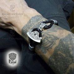Viking Axe Bracelet. Axe Pendant Mjolnir. Thor Hammer Vikings