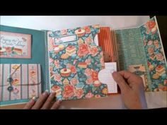 Two pocket theme recipe album using Graphic 45 Cafe Parisian . October Country Craft Creations Creative Team project