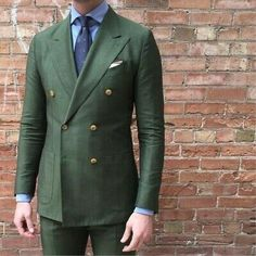 - Wedding Party Dress - 2020 Latest Coat Pant Designs Fashion Bespoke Suits Terno Slim Fit Double Breasted Green Men Suits Wedding Party Tuxedo For Men Mens Fashion Suits, Mens Suits, Men's Fashion, Olive Green Suit, Green Suits For Men, Terno Slim Fit, Double Breasted Tuxedo, Mode Costume, Groom Tuxedo