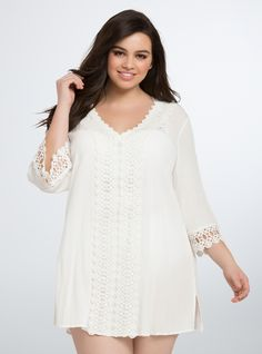 75140dce849e Plus Size Crochet Crinkle Voile Swim Cover Up Bathing Suit Cover Up, Swim  Cover,
