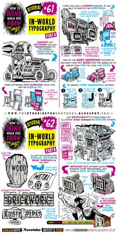 How to draw IN-WORLD TYPOGRAPHY LETTERING tutorial by STUDIOBLINKTWICE.deviantart.com on @DeviantArt