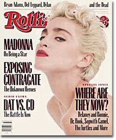 Madonna - Material Girl.BELIVE IN THIS women, if you care in the slightest about fashion.