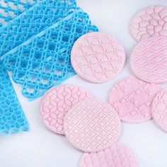 10 pc set of plastic imprint stamp texture is for polymer clay, Mokume stamp, cookies, fondant cake decorating Cupcakes, Cookies Fondant, Bolo Fondant, Fondant Molds, Cake Decorating Supplies, Cookie Decorating, Decorating Tools, Cake Boss, Biscuits