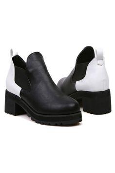 Color Block Paneled Boots OASAP.com