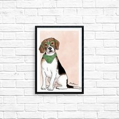 If you love beagles, you will love Blake, an illustrated art print by artist Tara Andrews.